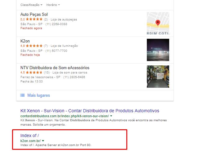 topo do google